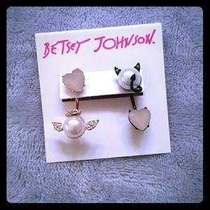 Betsey Johnson Angel & Devil Mismatch Earrings